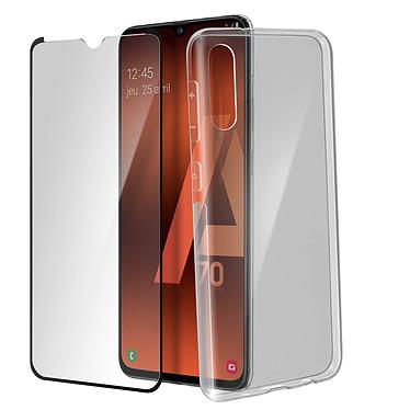 Avizar Pack protection Noir pour Samsung Galaxy A70 pas cher