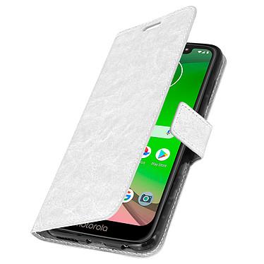 Avizar Etui folio Blanc pour Motorola Moto G7 , Motorola Moto G7 Plus pas cher