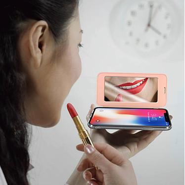 Acheter Avizar Etui folio Rose Champagne pour Apple iPhone X , Apple iPhone XS