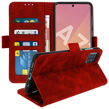 Avizar Etui folio Rouge pour Samsung Galaxy A71 pas cher