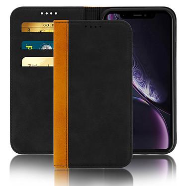 Avizar Etui folio Noir Éco-cuir pour Apple iPhone XR pas cher