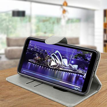 Avis Avizar Etui folio Gris pour Samsung Galaxy J4 Plus