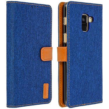Avizar Etui folio Bleu pour Samsung Galaxy A8 Etui folio Bleu Samsung Galaxy A8