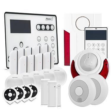Atlantic'S ATEOS - Alarme de maison sans fil GSM Kit 11 (MD-334R) ATEOS - Alarme de maison sans fil GSM Kit 11 (MD-334R)