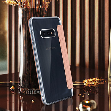 Avis Avizar Etui folio Rose Champagne Miroir pour Samsung Galaxy S10e