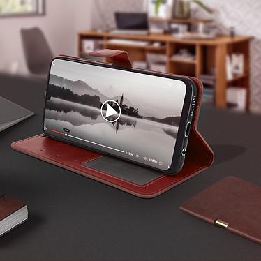 Avis Avizar Etui folio Marron pour Samsung Galaxy A50 , Samsung Galaxy A30s