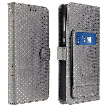 Avizar Etui folio Argent pour Smartphones de 3.8' à 4.3' Etui folio Argent Smartphones de 3.8' à 4.3'