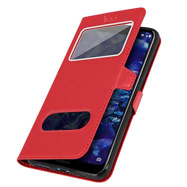Avizar Etui folio Rouge pour Nokia 5.1 Plus pas cher