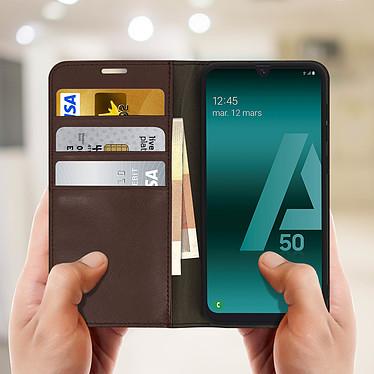 Acheter Avizar Etui folio Marron pour Samsung Galaxy A50 , Samsung Galaxy A30s