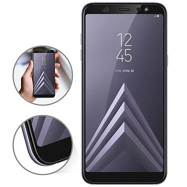 Avizar Film verre trempé Noir pour Samsung Galaxy A6 Plus pas cher