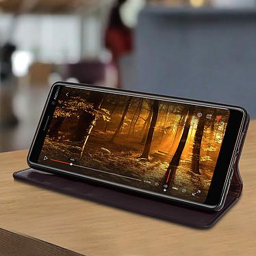 Avis Avizar Etui folio Marron pour Nokia 7 plus