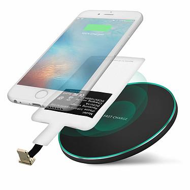 Avizar Chargeur sans fil Noir pour Tous les smartphones dotés d'un port de charge Lightning pas cher