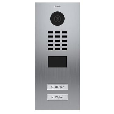 DoorBird Portier Vidéo Connecté Encastré 2 Boutons D2102v DOO_D2102V Interphone vidéo encastré 2 boutons 12/24 VDC Doorbird