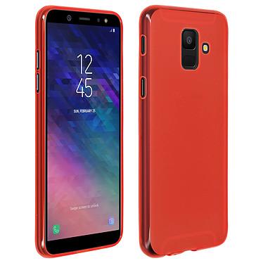 Avizar Coque Rouge Souple pour Samsung Galaxy A6 Coque Rouge souple Samsung Galaxy A6