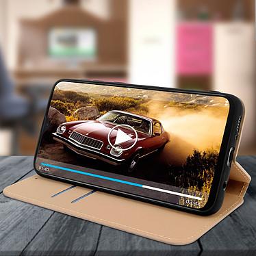 Avis Avizar Etui folio Dorée pour Samsung Galaxy M20