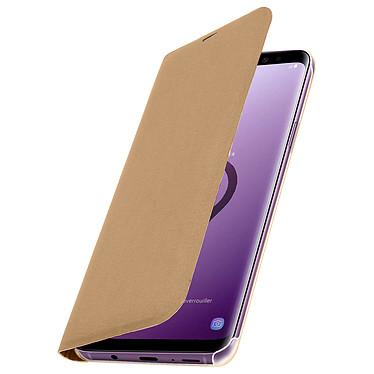 Avizar Etui folio Dorée pour Samsung Galaxy S9 Plus pas cher