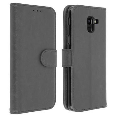 Avizar Etui folio Gris pour Samsung Galaxy J6 Etui folio Gris Samsung Galaxy J6