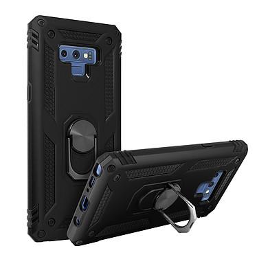 Avizar Coque Noir Bi-matières pour Samsung Galaxy Note 9 pas cher