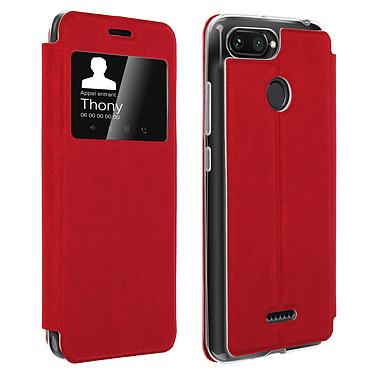 Avizar Etui folio Rouge pour Xiaomi Redmi 6A , Xiaomi Redmi 6 Etui folio Rouge Xiaomi Redmi 6A , Xiaomi Redmi 6