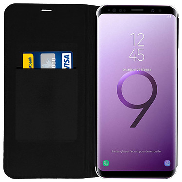 Acheter Avizar Etui folio Noir Éco-cuir pour Samsung Galaxy S9 Plus