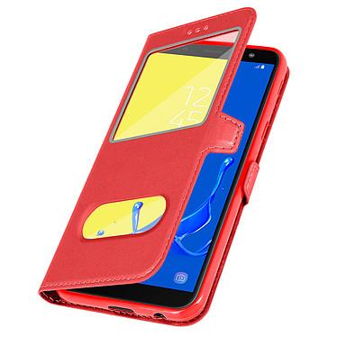 Avizar Etui folio Rouge Support Vidéo pour Samsung Galaxy J6 pas cher