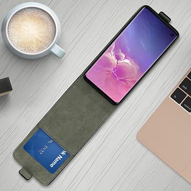 Avis Avizar Etui à clapet Noir pour Samsung Galaxy S10