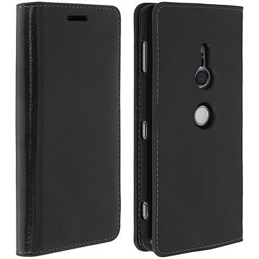 Avizar Etui folio Noir pour Sony Xperia XZ2 pas cher