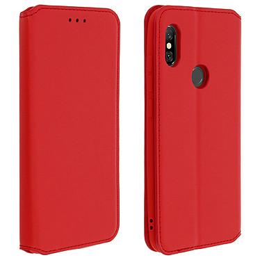 Avizar Etui folio Rouge pour Xiaomi Redmi Note 6 Pro Etui folio Rouge Xiaomi Redmi Note 6 Pro