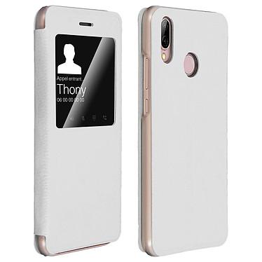 Avizar Etui folio Blanc pour Huawei P20 Lite Etui folio Blanc Huawei P20 Lite