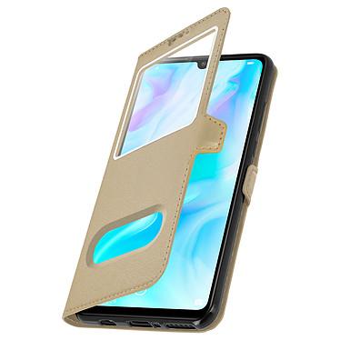 Avizar Etui folio Dorée pour Huawei P30 Lite , Honor 20S , Huawei P30 Lite XL pas cher