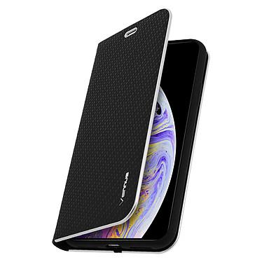 Avizar Etui folio Noir Carbone pour Apple iPhone XS Max pas cher