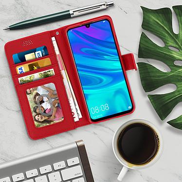 Acheter Avizar Etui folio Rouge Porte-Carte pour Huawei P Smart 2019 , Honor 10 Lite