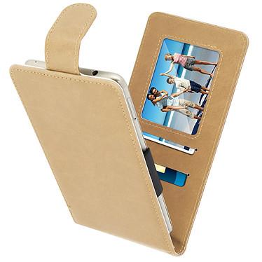 Avizar Etui à clapet Beige pour Compatibles avec Smartphones de 5,5 à 6,0 pouces pas cher