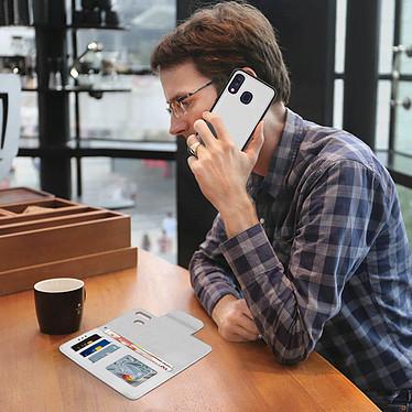 Avis Avizar Etui folio Argent pour Samsung Galaxy A40