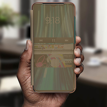 Avis Avizar Etui folio Dorée pour Xiaomi Redmi Note 8 Pro