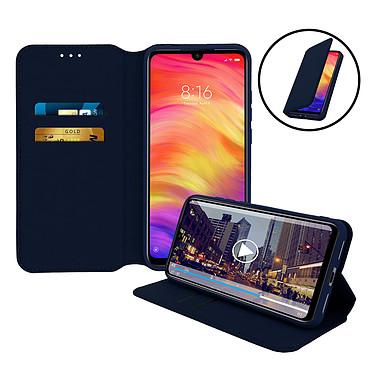 Avizar Etui folio Bleu Nuit pour Xiaomi Redmi Note 7 pas cher