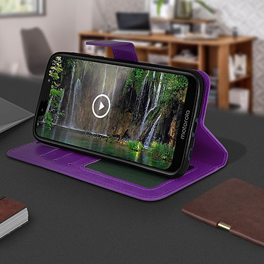 Avis Avizar Etui folio Violet pour Motorola Moto G7 Play