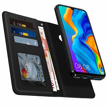 Avizar Etui folio Noir pour Huawei P30 Lite , Honor 20S , Huawei P30 Lite XL pas cher