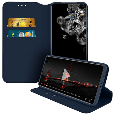 Avizar Etui folio Bleu pour Samsung Galaxy S20 Ultra pas cher