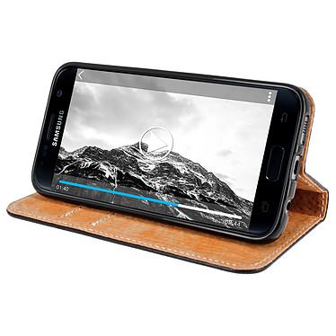 Avis Avizar Etui folio Noir pour Samsung Galaxy S7 Edge