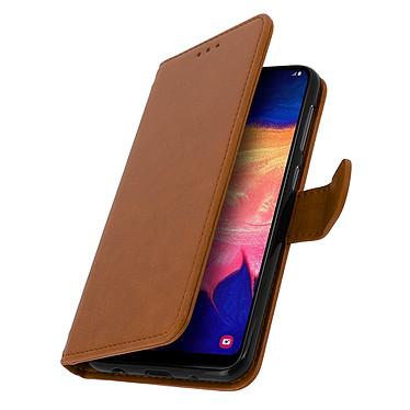 Avizar Etui folio Marron pour Samsung Galaxy A10 pas cher