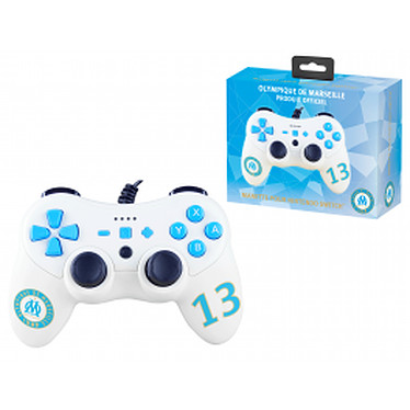 OM Olympique de Marseille Pro S wired controller Nintendo Switch Switch Manette filaire avec gyroscope et vibration pour Nintendo Switch, sous licence officielle