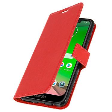 Avizar Etui folio Rouge pour Motorola Moto G7 , Motorola Moto G7 Plus pas cher