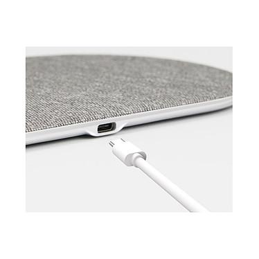 Cellys Socle de charge induction IPhone 8 / 9 / X/ Xr et iWatch Blanc pas cher
