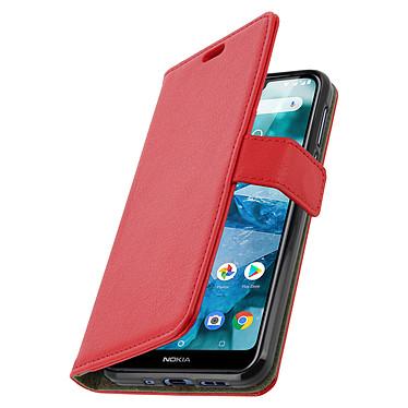 Avizar Etui folio Rouge pour Nokia 7.1 pas cher