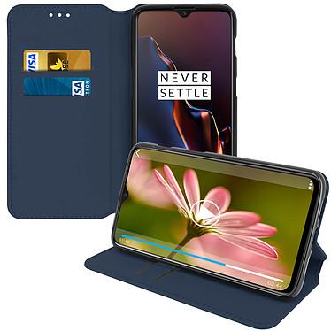 Avizar Etui folio Bleu pour OnePlus 6T, OnePlus 7 pas cher