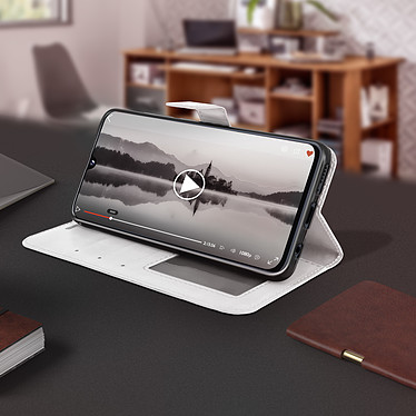 Avis Avizar Etui folio Blanc pour Samsung Galaxy A40