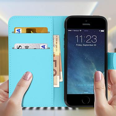 Acheter Avizar Etui folio Bleu pour Apple iPhone 5 , Apple iPhone 5S , Apple iPhone SE