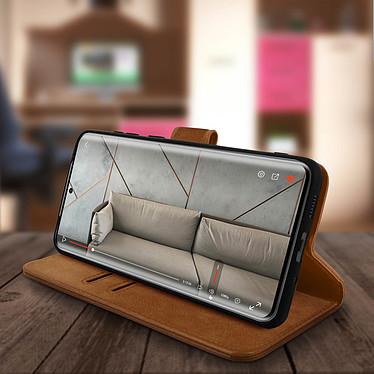 Avis Avizar Etui folio Marron pour Samsung Galaxy S20