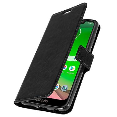 Avizar Etui folio Noir pour Motorola Moto G7 , Motorola Moto G7 Plus pas cher